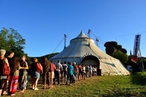 Le chapiteau - Le Nouveau Festival d'Alba-la-Romaine, le 14 juillet 2014